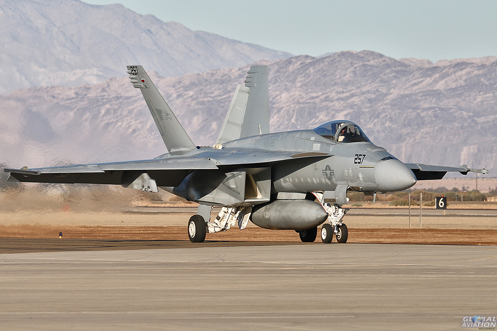 F/A-18E Super Hornet from VFA-122 ;Flying Eagles'. Alan Kenny