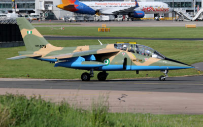 Military Aviation News – Nigerian Air Force Alpha Jet at Manchester Airport