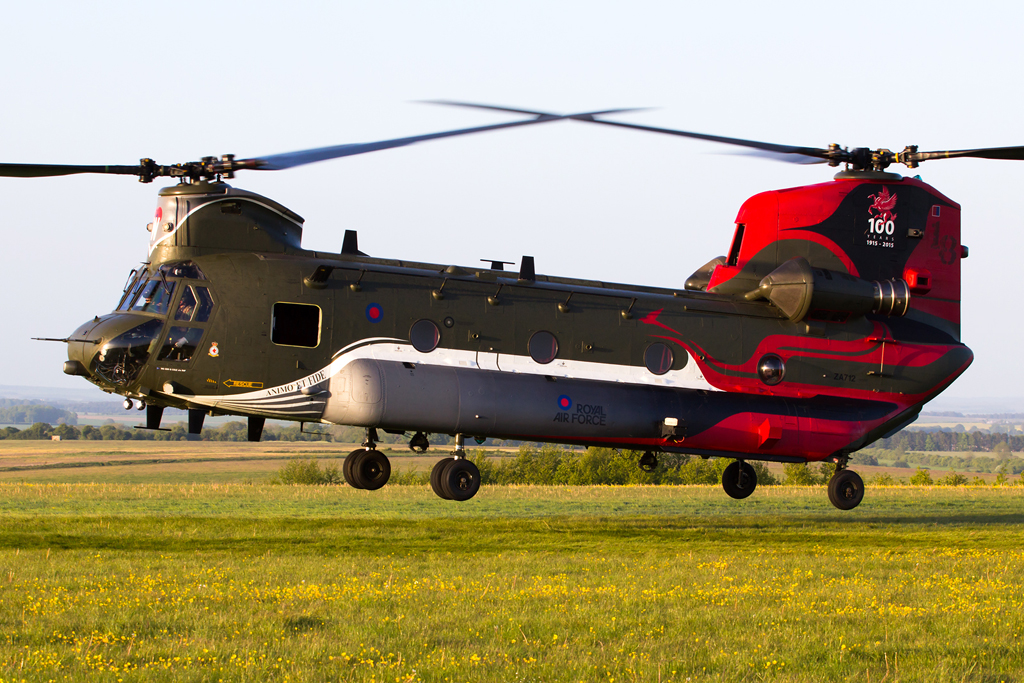 Military Aviation – 18(B) Squadron Centenary Chinook on Salisbury Plain