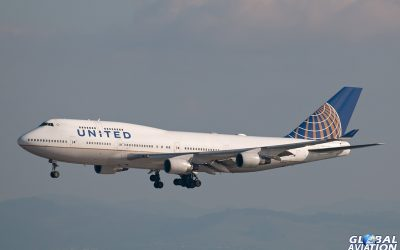 BlogGAR – Paul Filmer – United Airlines Boeing 747 Chasing at San Francisco